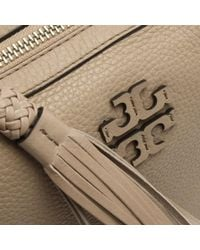 Tory Burch - Natural Taylor Soft Clay Leather Tassel Camera Bag - Lyst