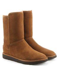 Ugg - Brown Ugg Australia Abree Short Ii Chestnut Suede Ankle Boot - Lyst