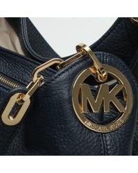 Michael Kors - Blue Large Fulton Admiral Leather Shoulder Tote Bag - Lyst