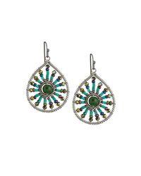 Nakamol - Multicolor Beaded Sunburst Teardrop Earrings - Lyst