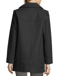 Marc New York - Gray Winnie Double-breasted Wool-blend Coat - Lyst