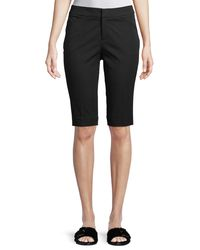 "Neiman Marcus - Black 13"" Stretch-cotton Walking Shorts - Lyst"