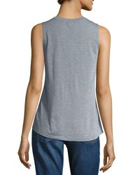 David Lerner - Gray Walking Mickey Graphic Muscle Tank - Lyst