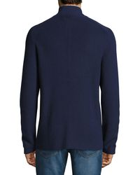 Brunello Cucinelli - Blue Double-breasted Cotton Cardigan for Men - Lyst