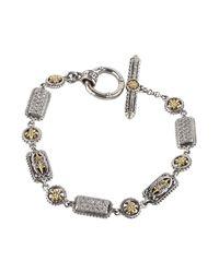 Konstantino | Metallic Asteri Pave White Diamond Link Bracelet | Lyst
