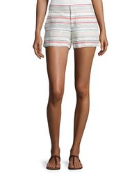 Joie | Multicolor Merci Embroidered Linen Shorts | Lyst