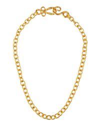 Stephanie Kantis - Metallic 24k Yellow Gold Plated Tudor Chain Necklace - Lyst