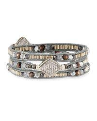 Nakamol - Metallic Multicolor Crystal Wraparound Bracelet - Lyst