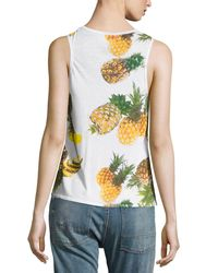 Chaser - White Pineapple Paradiso Tank Top - Lyst