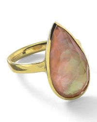 Ippolita - Multicolor 18k Rock Candy Medium Teardrop Ring In Mother-of-pearl - Lyst