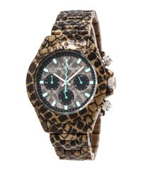 Toy Watch | Multicolor Imprint Reptile-plasteramic Chronograph Watch | Lyst