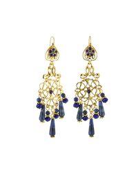 Jose & Maria Barrera - Blue Sodalite & Crystal Chandelier Earrings - Lyst