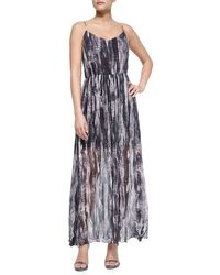 Andrew Marc | Multicolor Painted Wave Silk Maxi Dress | Lyst