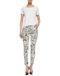 CJ by Cookie Johnson - Multicolor Tropical-print Wisdom Ankle Jeans - Lyst