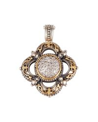 Konstantino - Metallic Diamond Classics Cross Pendant Enhancer - Lyst