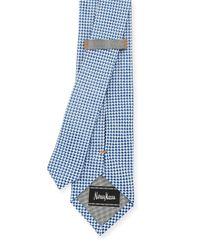Neiman Marcus | Blue Check Silk Tie for Men | Lyst
