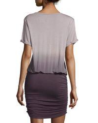 Young Fabulous & Broke - Gray Elise Short-sleeve Ombre Blouson Dress - Lyst