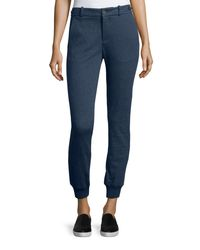 VINCE | Blue Cotton-blend Heather Jogger Pants | Lyst