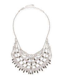 DANNIJO | Metallic Steinem Jet Crystal Bib Necklace | Lyst