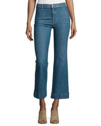 The Great - Blue The Sea Crop Flare-leg Jeans - Lyst
