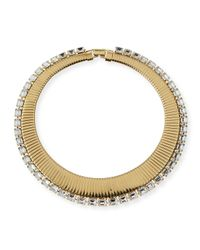 R.j. Graziano | Metallic Collar Necklace With Crystals | Lyst
