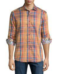 Robert Graham - Multicolor Deck The Halls Plaid Sport Shirt for Men - Lyst
