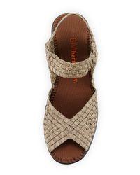 Bernie Mev - Gray Fame Woven Wedge Sandal - Lyst