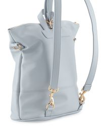 Neiman Marcus - Blue Saffiano Faux-leather Square Backpack - Lyst