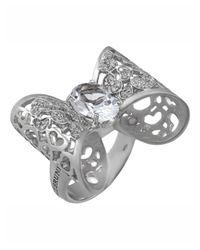 Pasquale Bruni   Metallic 18k Diamond & Topaz Bow Ring   Lyst