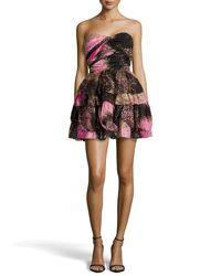 Diane von Furstenberg   Multicolor Brighton Strapless Printed Dress   Lyst