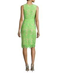 Nicole Miller Artelier - Green Neon Venice Lace Sheath Dress - Lyst