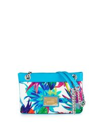 Love Moschino - Blue Jungle-print Canvas Shoulder Bag - Lyst