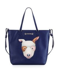 Love Moschino - Blue Faux-leather Applique Tote Bag - Lyst
