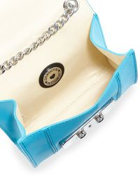 Love Moschino - Blue Saffiano Faux-leather Crossbody Bag - Lyst