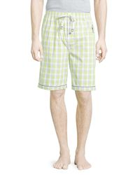 Psycho Bunny - Green Plaid Woven Trucks for Men - Lyst