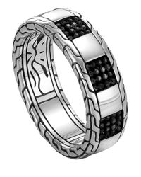John Hardy - Metallic Men's Classic Chain Poleng Slim Band Ring for Men - Lyst