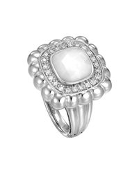 John Hardy | Metallic Batu Bedeg Small White Agate & Diamond Ring | Lyst