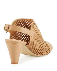 Tahari - Multicolor Eloise Perforated Suede Sandal - Lyst