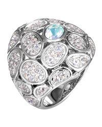 John Hardy   Black Kali Medium Pebble Lava Domed Moonstone Ring   Lyst