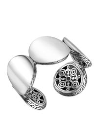 John Hardy - Metallic Dot Silver Bold Flex Cuff Bracelet - Lyst