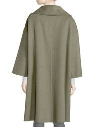 Michael Kors - Green 3-button Wool Car Coat - Lyst