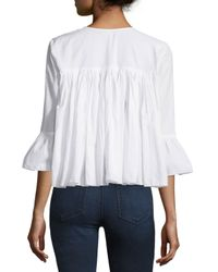 Raga - White Embroidered Open-front Peasant Blouse - Lyst
