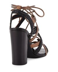 Charles by Charles David | Black Greensboro Braided Lace-up Sandal | Lyst