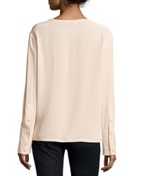 Equipment - Pink Liam Oversized Silk Blouse - Lyst