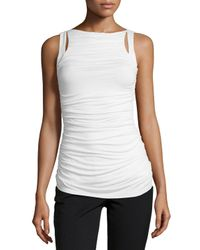 Bailey 44 - White Ruched-front Sleeveless Top - Lyst