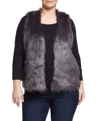 BB Dakota | Gray Jack By Duda Faux Fur Vest | Lyst