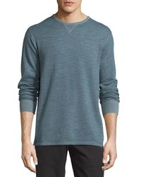 Tommy Bahama - Blue Crewneck Reversible Long-sleeve Tee for Men - Lyst