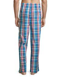 Original Penguin - Blue Plaid Woven Lounge Pants for Men - Lyst