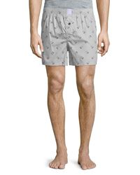 Psycho Bunny - Gray Woven Lounge Boxer Shorts for Men - Lyst