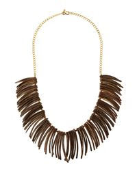 Kenneth Jay Lane | Multicolor Wooden Spike Bib Necklace | Lyst